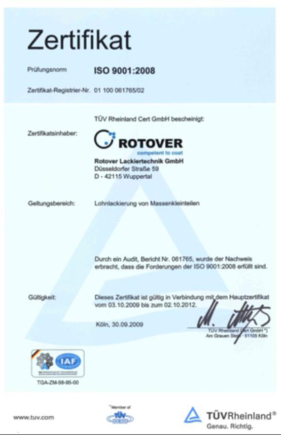 Kompetenz Qualitaet - ROTOVER Lackiertechnik GmbH